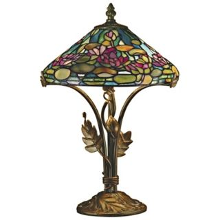 Dale Tiffany Dunkirk Art Glass Table Lamp   #10468