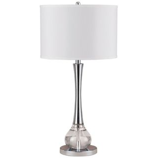 Abaco Crystal and Metal Table Lamp   #N4573