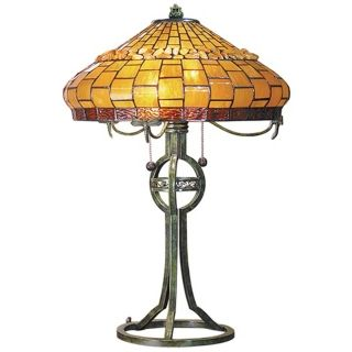 Dale Tiffany Grundy Art Glass Table Lamp   #X2574