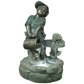 Watering Boy LED Light Fountain   #X3687