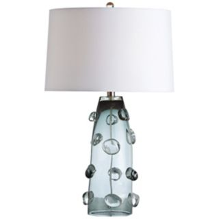 Arteriors Home Poppy Tall Gray Glass Table Lamp   #V5097