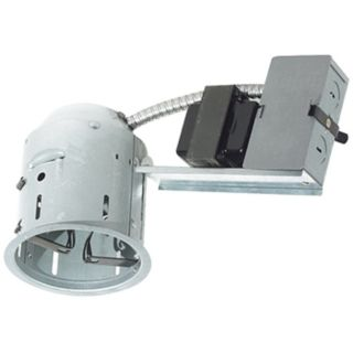 "Juno 4"" Low Voltage Non IC Remodel Recessed Light Housing   #24325"