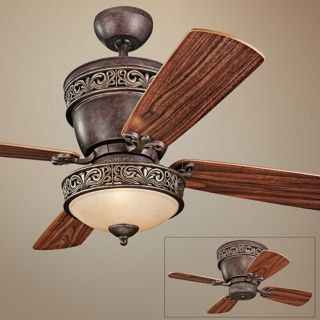 "42"" Monte Carlo Villager Walnut Ceiling Fan with Light Kit   #P2789"