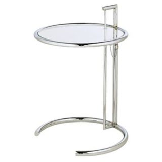 Eileen Grey Chrome and Glass Accent Table   #G4188