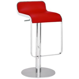 Zuo Equino Red Adjustable Height Barstool   #G4161