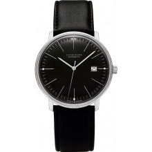 Authentic Junghans Max Bill Design Automatic Black Dial Date Watch