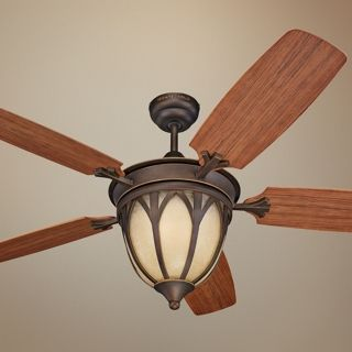 "54"" Monte Carlo Grand Isle Outdoor Ceiling Fan with Light   #T8569"