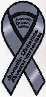 Juvenile Diabetes Awareness Ribbon Magnet. Place this ribbon magnet on