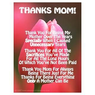 Thanks Mom Poems Gifts & Merchandise  Thanks Mom Poems Gift Ideas