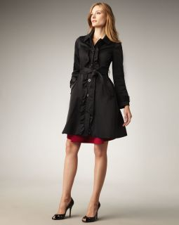 NWT Holiday WOW Kate Spade New York Black Large Melissa Trench Coat