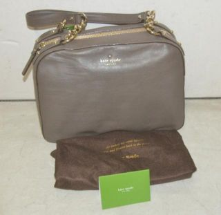 Kate Spade Nanette Litchfield Handbag Purse French Grey