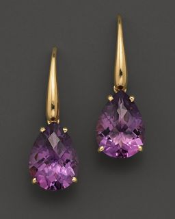 Roberto Coin 18 Kt. Yellow Gold Mini Ipanema Amethyst Earrings