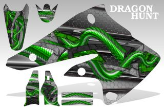 1995 2008 Kawasaki KDX 200 220 Graphics Kit Decal Sticker Dragon Hunt