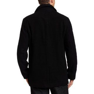 Kenneth Cole Reaction Mens Patrick Coat Jacket M L Charcoal Black New