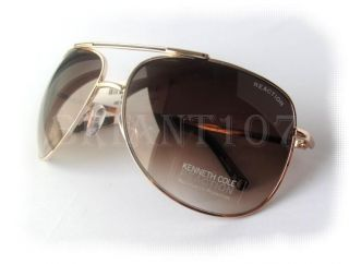 New Kenneth Cole Reaction Sunglasses KC1099 Gold Couple Tiny Scratches