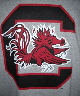NCAA University of South Carolina Gamecocks Long Sleeve Gray T Shirt