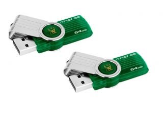 Lot 2 Kingston 64GB DataTraveler DT 101 USB Flash Pen Drive Memory
