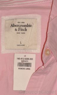 New Abercrombie Fitch Womens Shirt Kira Top Button Down Oxford Pink Sz