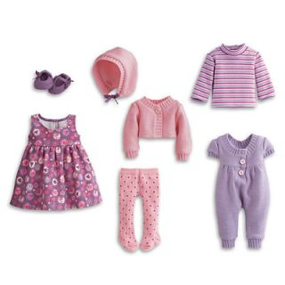 New in Box American Girl Bitty Baby Bitty Twins Mix Match Layette 7 PC