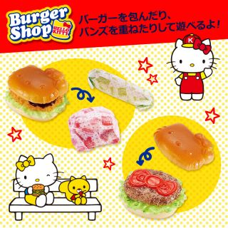 Hello Kitty Burger Shop Kids Toy Doll House Figure Official Sanrio