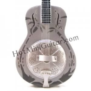 MINIATURE GUITAR MARK KNOPFLER NATIONAL DOBRO STEEL RESONATOR (WITH