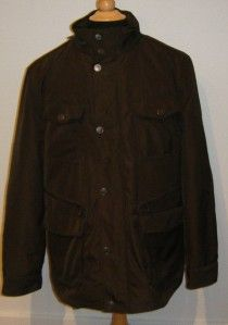 New $350 Thomas Dean Brown Warm Lined Car Coat Jacket L