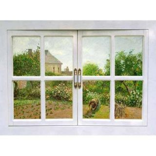 Landscape Window Adhesive Removable Wall Decor Accents Mural Fabric