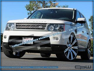 24 inch Land Range Rover Stormer Wheels Gloss Black Machined