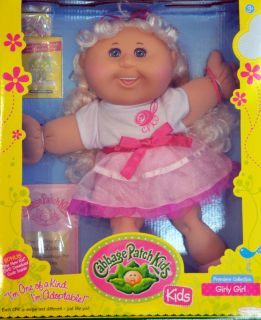 Cabbage Patch Kids Doll Honor Laney Long Blonde Hair Teal Eyes Teeth