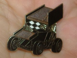 Hat Lapel Pin Sprint Race Midget Mini Slider Car Dirt Auto Racing