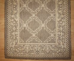 New Indoor Outdoor Rug Garden Lattice Coffee Tan Couristan 2x12 Hall