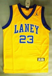 New Michael Jordan Laney High School Yellow Jersey