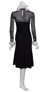 Ralph Lauren Elegant Black Ruffle Cocktail Dress New