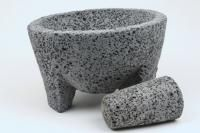 Authentic Mexican Lava Rock Molcajete Mortar and Pestle Guacamole