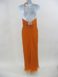 Laundry by Shelli Segal Orange Beaded Dress Size 2