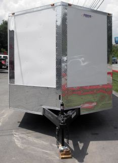New 8 5 x 24 White Enclosed Lawn Mower Car Bike Hauler