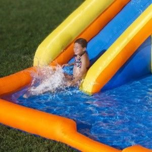 Rapids Water Inflatable Bounce House with Water Slide