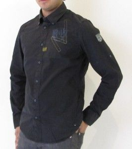 Star Shirt Nevada Lawrence Long Sleeve Poplin OD Designer Black Men