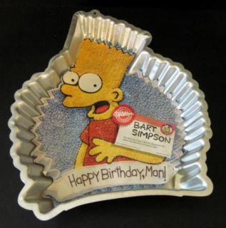 Retired Wilton 1990 Bart Simpson Cake Pan with Insert Instructions