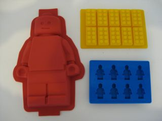 Lego Minifigure Brick Birthday Party Cake Pan Mold Set