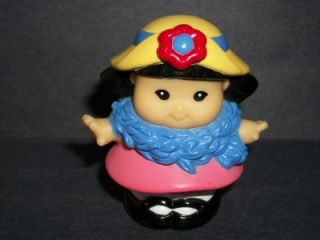 Fisher Price Little People Tea Party Sonya Lee Girl Pink Dress Blue
