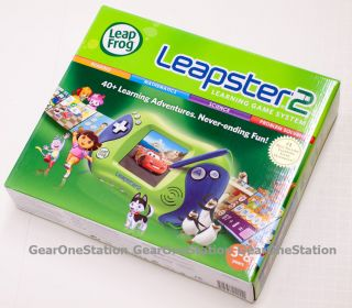 New LeapFrog Leapster2 Learning Game System Leap Frog Green Retail Box
