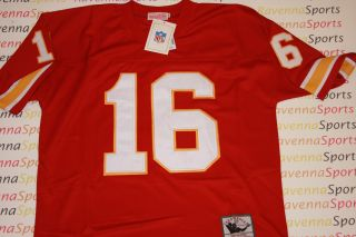 Len Dawson Autographed Kansas City Chiefs Red Throwback Jersey HOF JSA