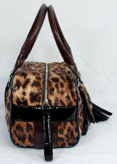 New Guess Lindsey Womens Brown Satchel Shoulder Bag Handbag
