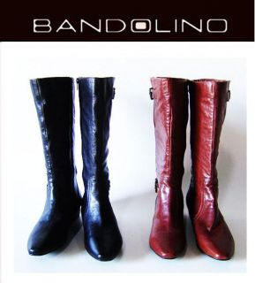 Bandolino Burke Ladies Cognac Leather Knee High Boots Shoes Size 9 5M