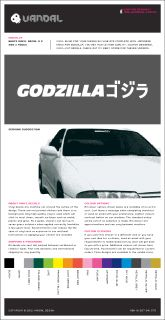 Godzilla Sticker x 2 Car Nissan Skyline GTR Decal