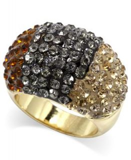 City by City Ring, Gold Tone Ombre Pave Cocktail Ring