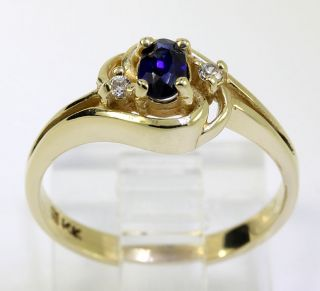 30ct Oval Sapphire CZ 14k Yellow Gold Filigree Love Knot Ring