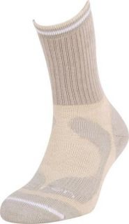 LORPEN Womens Socks Merino Midweight Hiker Crew Oatmeal Heather 1