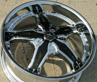 Karizzma Lucian KR09 20 Chrome Rims Wheels Acura TL 04 08 20 x 8 5 5H
